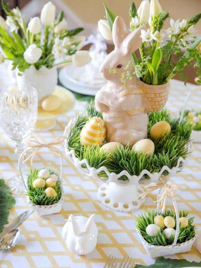Inspiring Easter Table Centerpiece Ideas-03-1 Kindesign