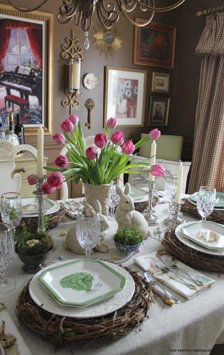 Inspiring Easter Table Centerpiece Ideas-21-1 Kindesign