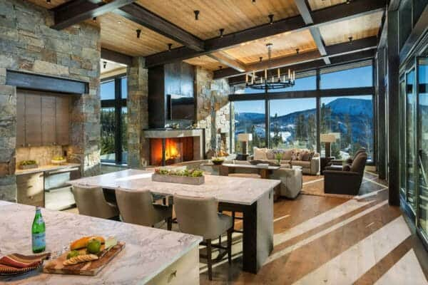 featured posts image for Modern-rustic mountain home with spectacular views in Big Sky country