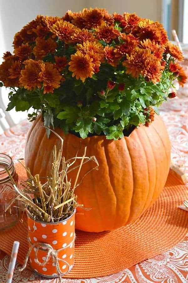 pumpkin-flower-centerpiece