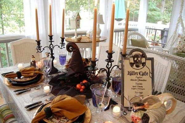 featured posts image for 20+ Hauntingly Beautiful Table Centerpiece Ideas For Halloween