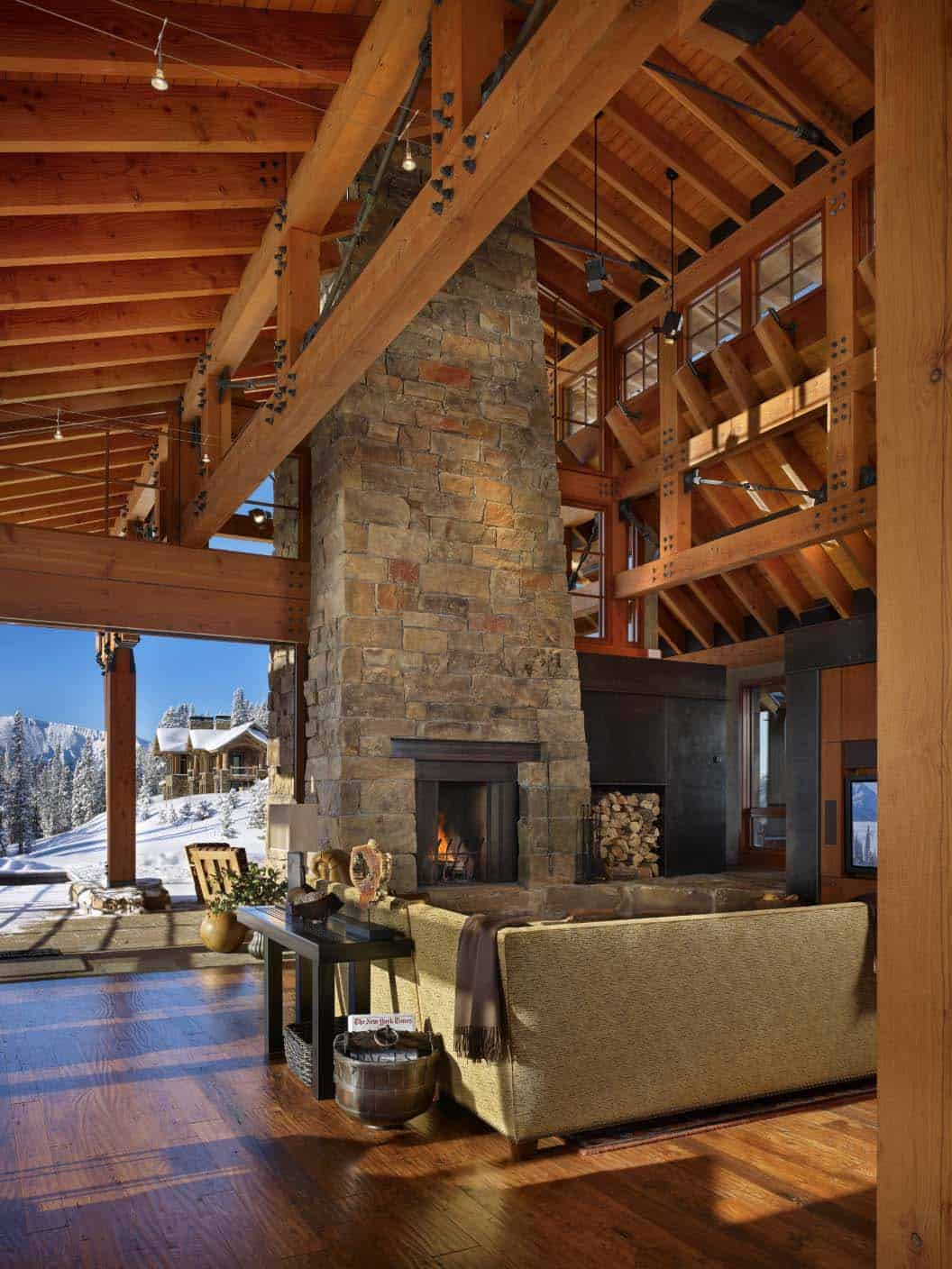 great-room-with-fireplace-rustic-living-room