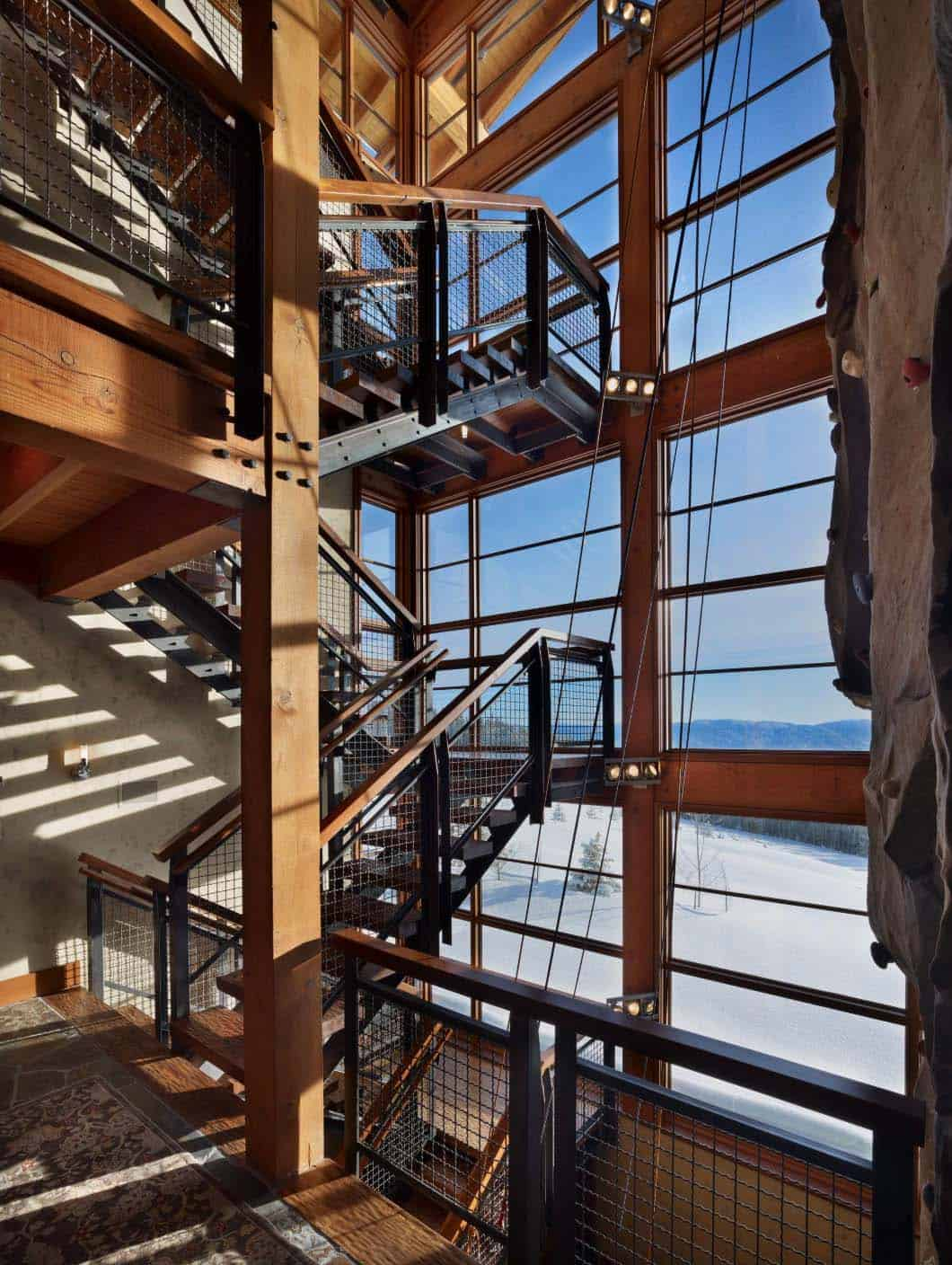 stair-tower-with-climbing-wall-industrial-staircase