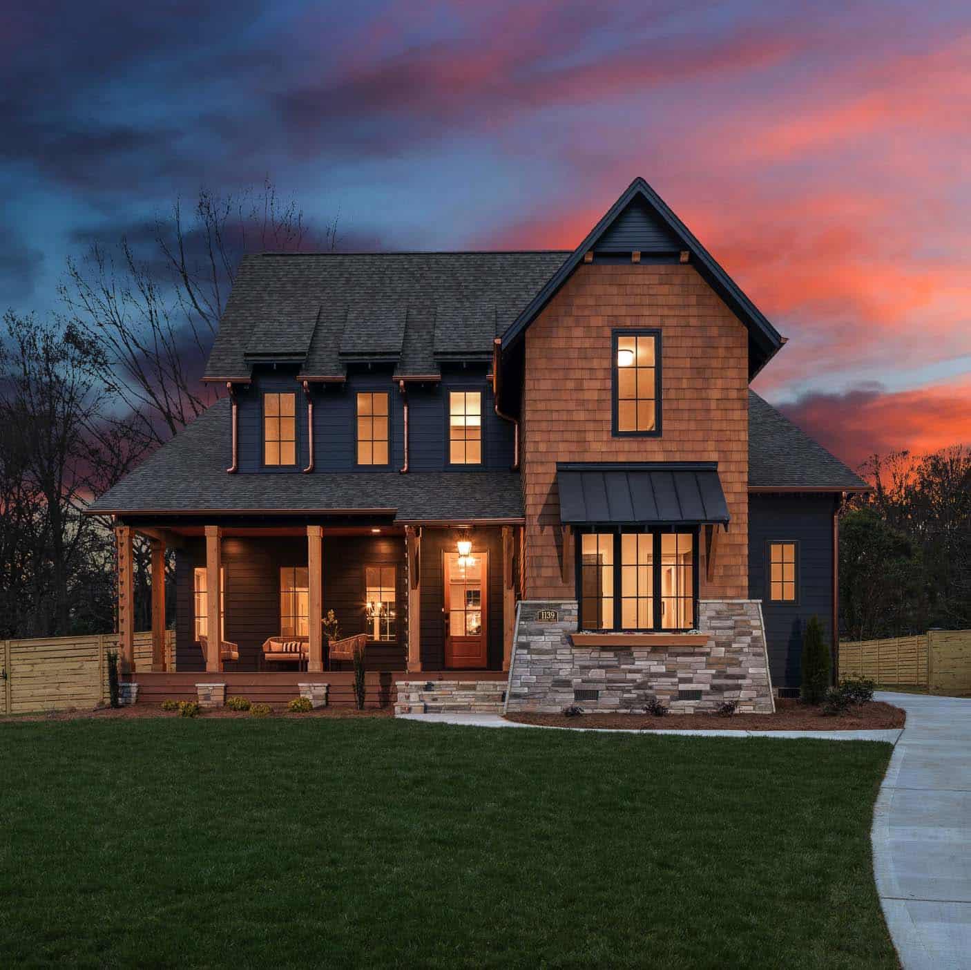 farmhouse-front-exterior-dusk