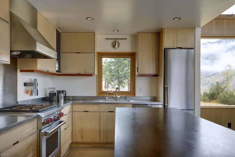 contemporary-cabin-kitchen