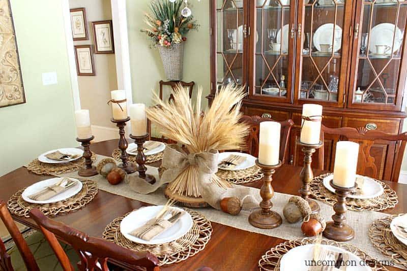 gorgeous-thanksgiving-centerpiece-idea-wheat