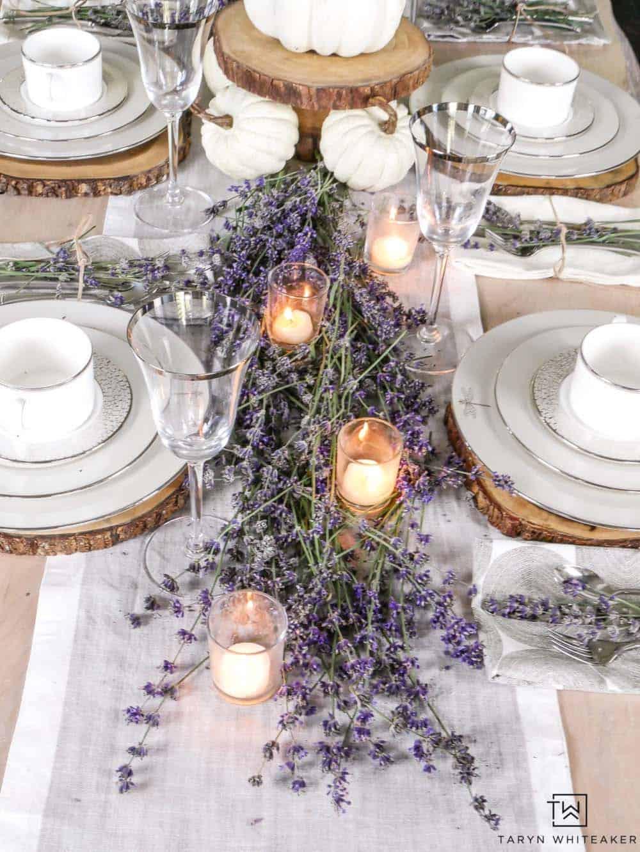 gorgeous-thanksgiving-centerpiece-idea-lavender