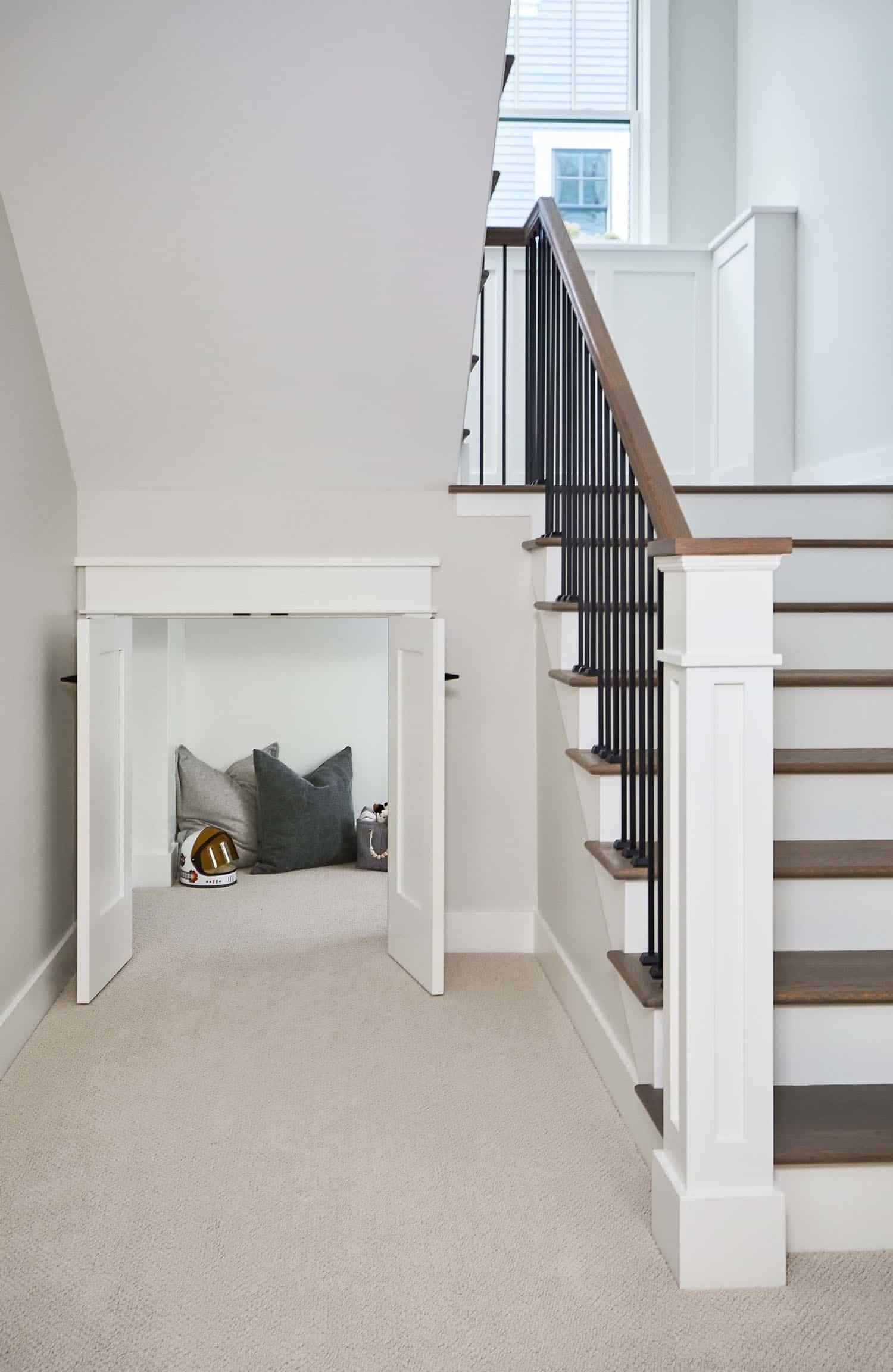 farmhouse-staircase-kids-nook