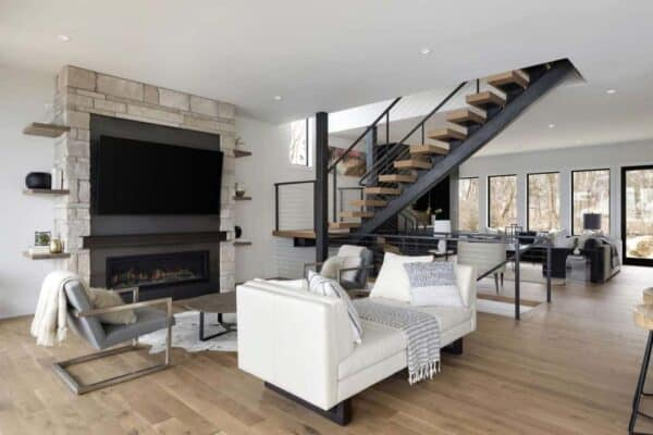 featured posts image for Inside a stunningly gorgeous mountain modern home on Lake Minnetonka