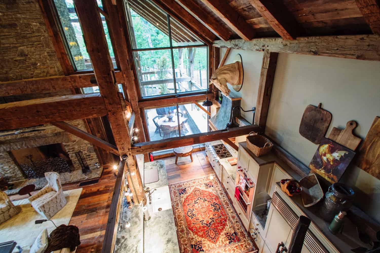 view-of-rustic-kitchen-below