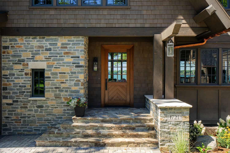 rustic-modern-lake-house-entry