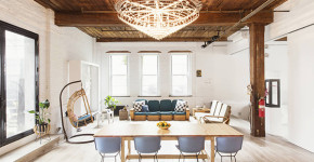 Industrial style live / work space in New York: Williamsburg Loft